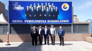 TOBB DELEGESİ İŞSEVER'E HİZMET ŞEREF PLAKETİ